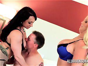 cougar detective Alura Jenson 3 way orgy