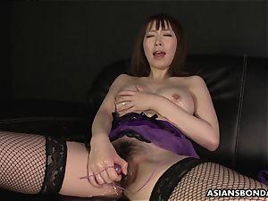 japanese wondrous undergarments during the slippery masturbation