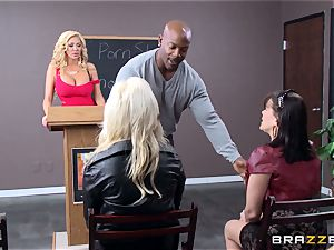 Summer Brielle is stretched broad open by a big black cock
