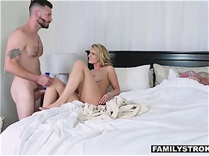 intercourse starved mummy takes her step sonnie for a quickie