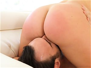 puss pleasing Maddy OReilly