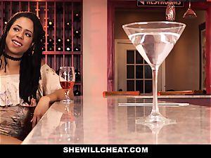 SheWillCheat - hotwife wifey drills bbc in douche