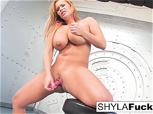 Shyla gives you a magnificent strip and solo