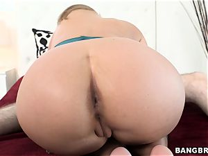 Phoenix Marie rides her humid puss on this firm trouser snake