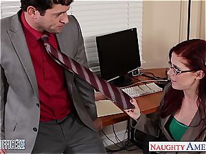 sandy-haired hottie in glasses Penny Pax screw in the office