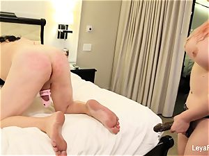 Leya ball unloads Sissy Jessica then nails his ass