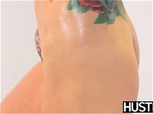 Ultimate blondie Sarah Jessie submits to thick big black cock