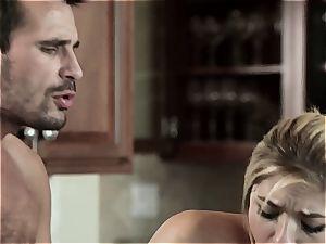 slut gets boned on the kitchen counter