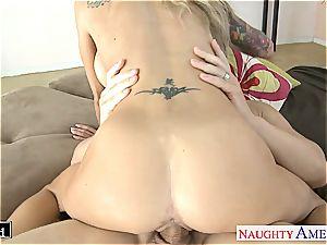 tattooed light-haired Sarah Jessie plumbing