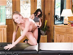 AllGirlMassage Britney Amber blows a load