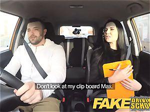fake Driving college Jasmine Jae totally nude hook-up in car