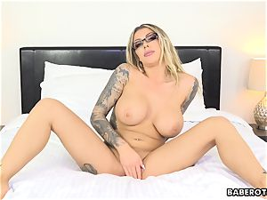 wild Karma RX toys her butt with a fuck stick solo