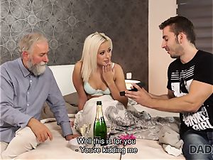 DADDY4K. girl rides older gent s joystick in daddy porn vid