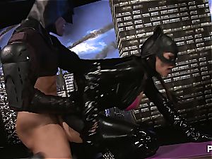 cumming all over Catwoman