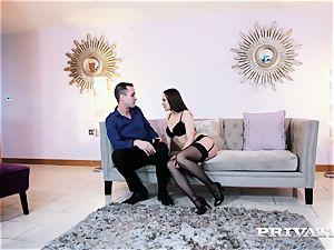 Private.com Blue Angel pummels in a hot lingerie