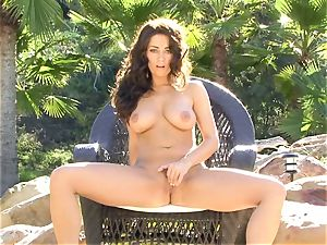 Taylor Vixen is passionate torrid nude on her chair frolicking with her simmering slits