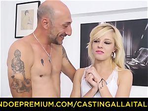 audition ALLA ITALIANA super-hot blond bursts in rigid ass fucking