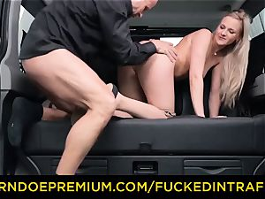 fucked IN TRAFFIC - blond goddess humped deep