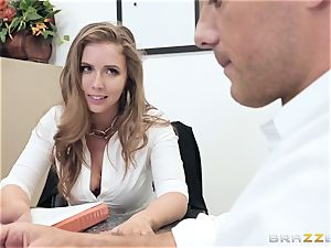 Office pulverize with huge-boobed boss Lena Paul