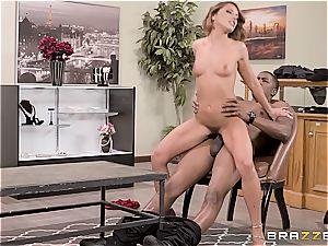 Adriana's vulva gets slain by a humungous black monster