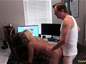 poking the super hot assistant