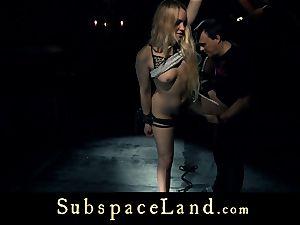 sub female ash-blonde pleasured and disciplined in subjugation