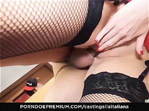 casting ALLA ITALIANA - buxomy brown-haired luvs humid anal invasion