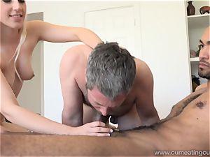 Niki Snow Makes husband blow phat ebony shaft