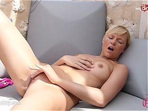 MyDirtyHobby - steaming blondie wanking outdoor!