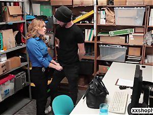 red-hot towheaded LP Officer Krissy Lynn gets plow by a Shoplifter
