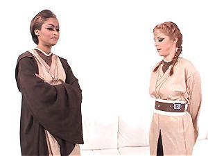 Jedi flesh Diamond showcases Penny Pax the strength