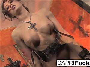 Capri displays off her pretty soles
