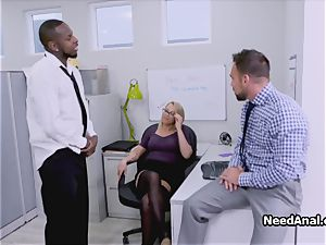 big-titted assistant dual torn up in the office