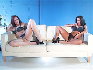 Jayden Jaymes shares a big fuck-stick with Ava Addams