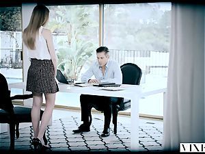 VIXEN super-naughty assistant Gets bound Up and banged By Her boss