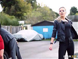 platinum-blonde girl/girl honies Sophia Knight and Victoria Summers