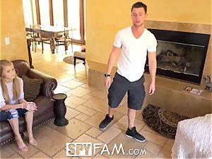 SpyFam fat gash step step-sister Hannah Hays ravaged