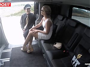 Czech client Vinna Reed gets banged in cab
