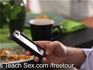MomsTeachSex threesome with my super hot step mommy