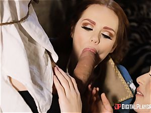 stunners Ella and Olive fantasy fuck with monster shaft