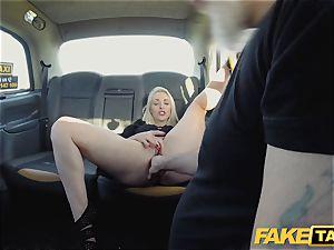 faux cab blondie milf Victoria Summers ravaged in a cab