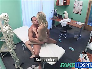 FakeHospital cute platinum-blonde patient gets honeypot exam