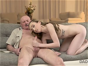 DADDY4K. fuckfest of father and youthful chick concludes with sudden internal cumshot