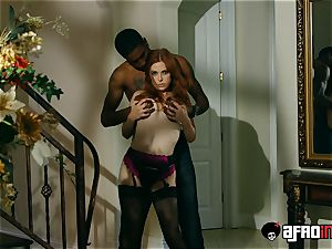 casting ALLA ITALIANA red-haired torn up by a ebony weenie