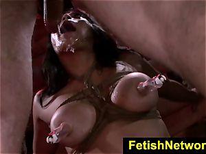FetishNetwork Mia Li gasps hefty salami