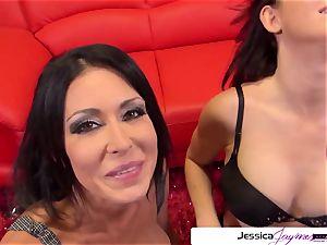 Jessica Jaymes and Kendall Karson blow a fat boner