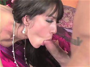Capri Cavalli shoves this firm salami down her throat