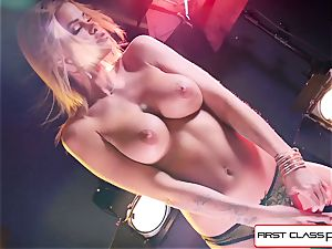 witness Jessa Rhodes taking a big pink cigar down her mouth